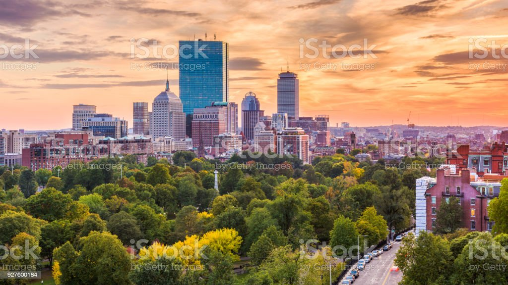 Boston, Massachusetts, USA stock photo