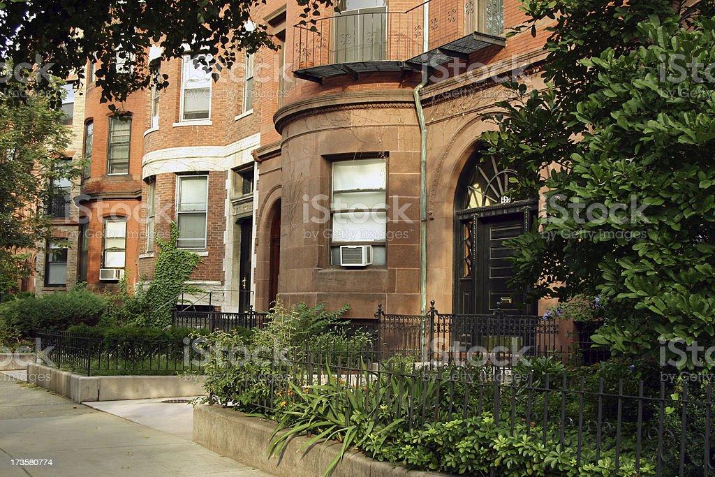 Boston Neighborhood royalty-free stock photo