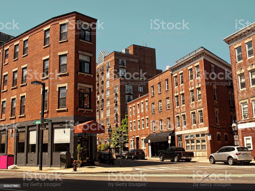 Boston neighborhood stock photo
