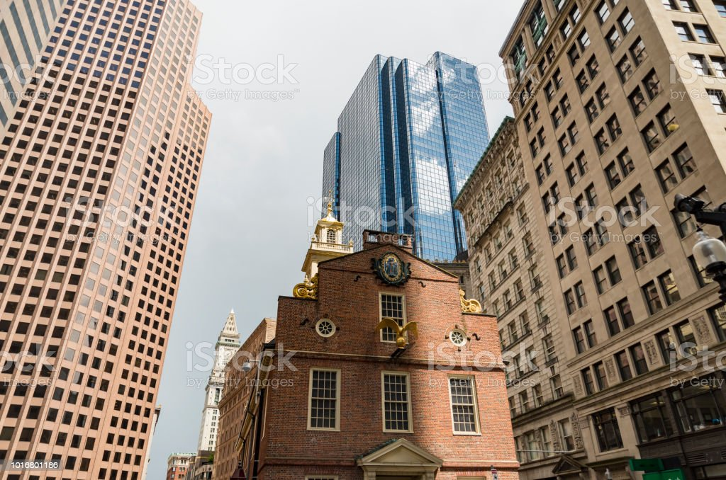 Boston Old State House building stock photo