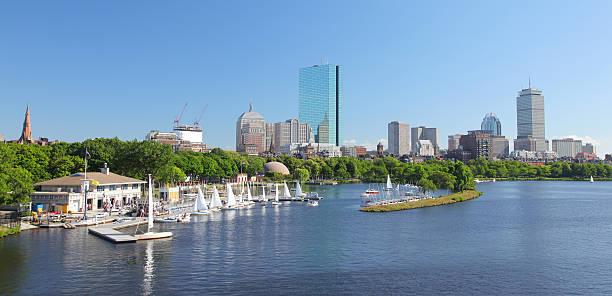 Boston Park and Marina stock photo