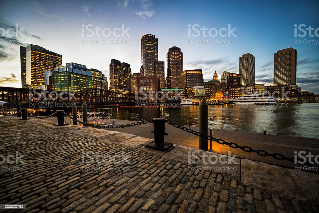 Boston port stock photo