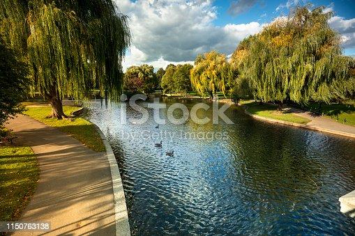 Boston Public Garden, is a large park in the heart of Boston, Massachusetts, adjacent to Boston Common