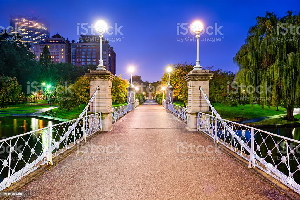 Boston Public Garden stock photo