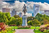 George Washington Monument at Public Garden in Boston, Massachusetts.