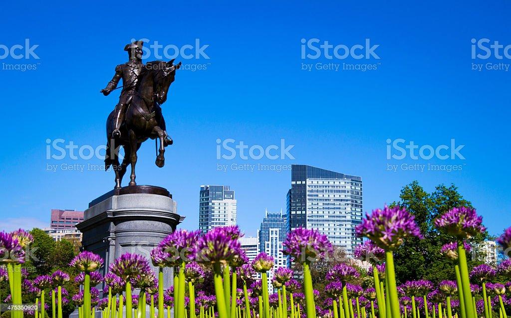 Jardins públicos de Boston - foto de acervo