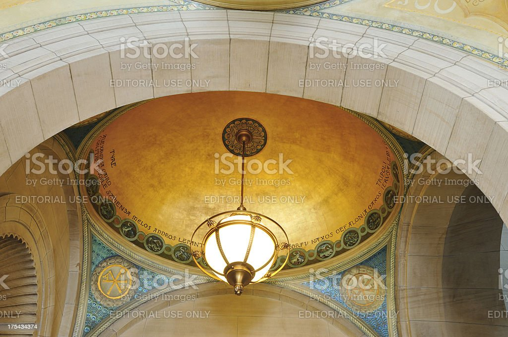 Boston Public Library at Copley Square royalty-free stock photo