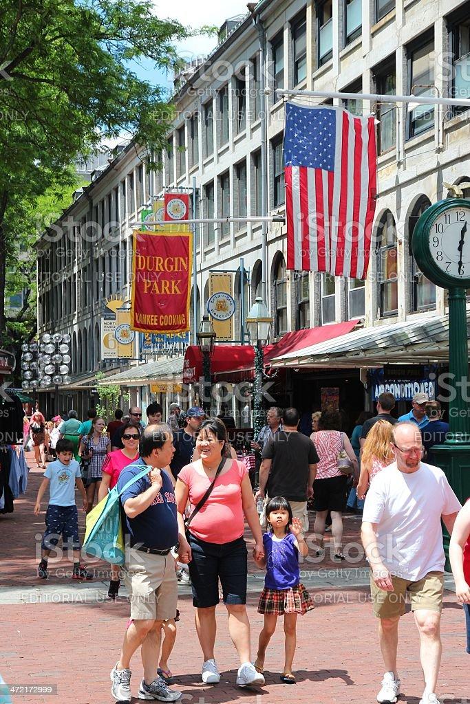 Boston - Quincy Market stock photo