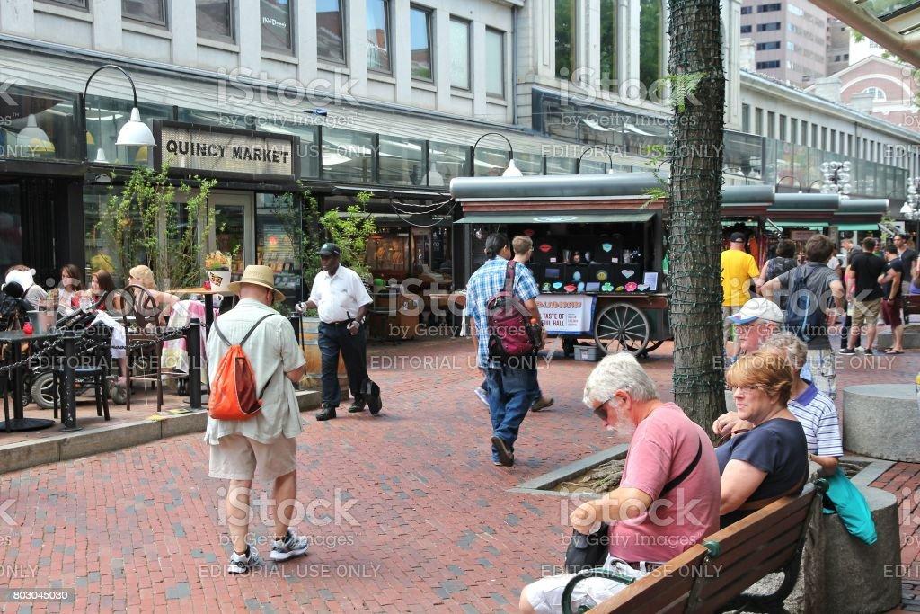 Boston Quincy Market stock photo