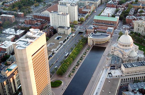 Boston rooftops stock photo