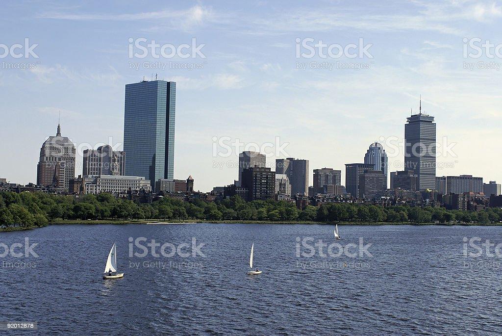boston scenic royalty-free stock photo
