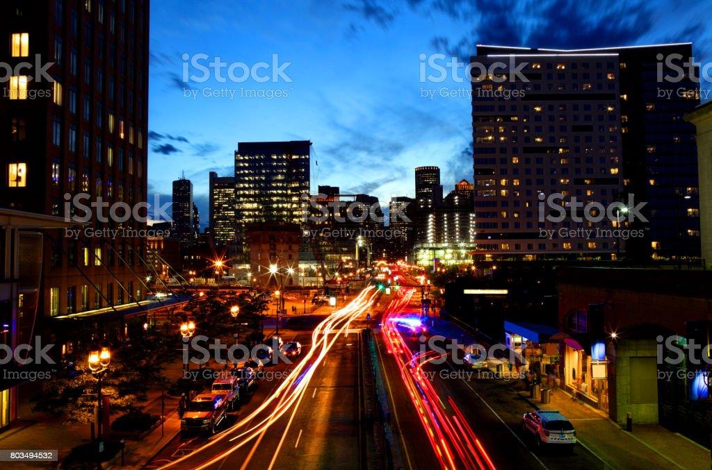 Boston Seaport District stock photo