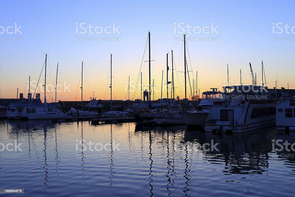 Boston: Seaport royalty-free stock photo
