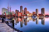 istock Boston Skyline along the Harborwalk 486143500