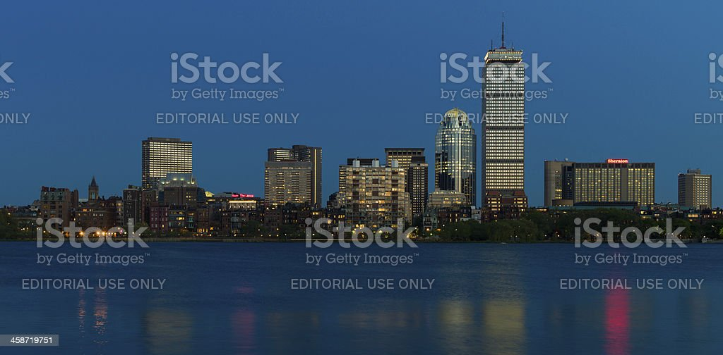 Boston Skyline at Twilight royalty-free stock photo