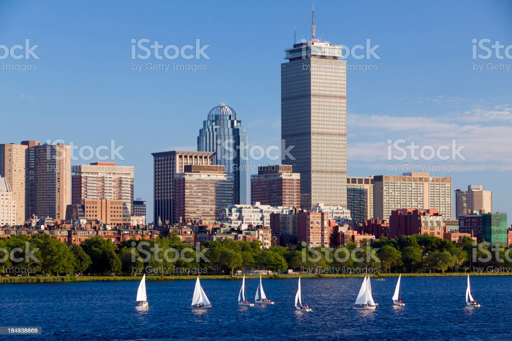 Boston Skyline Horizontal royalty-free stock photo