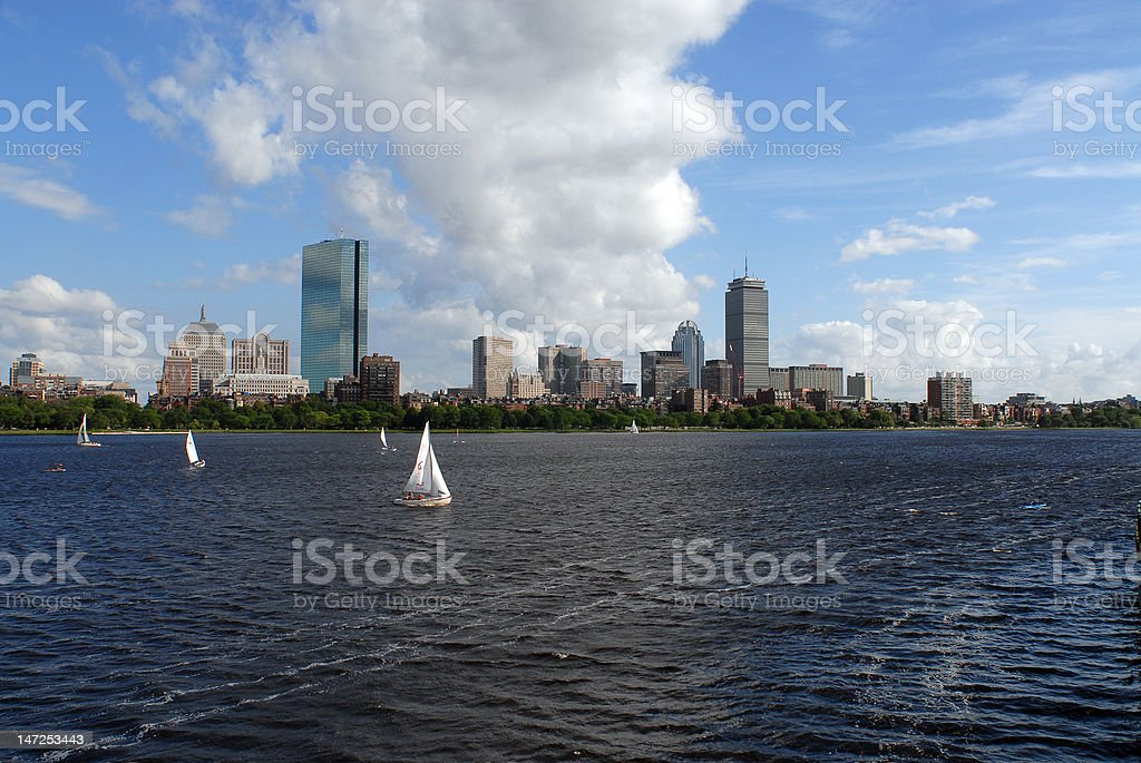 Boston skyline in Summer royalty-free stock photo