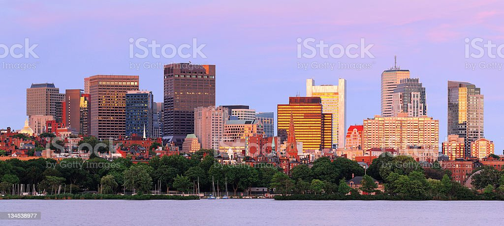 Boston skyline panorama royalty-free stock photo