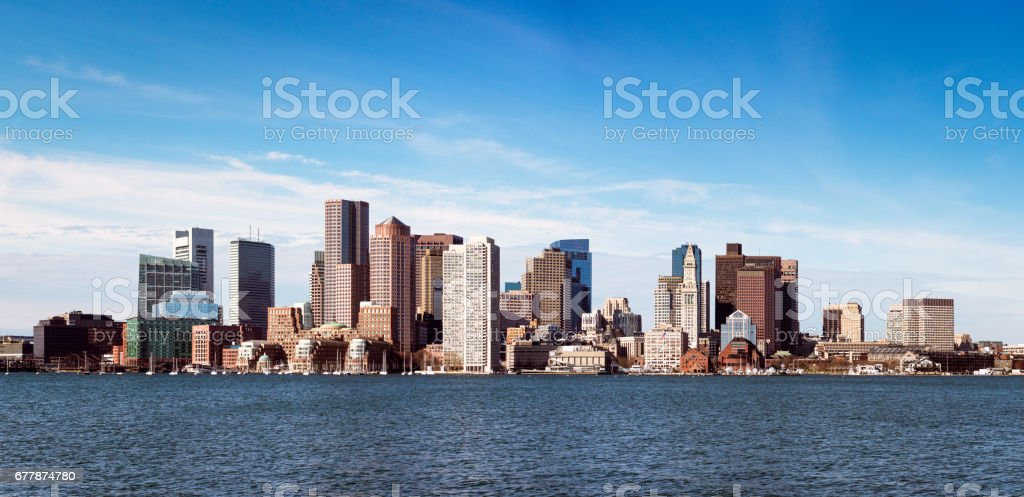 Boston skyline panorama - foto de acervo