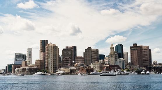 Boston Skyline, Massachusetts, USA.