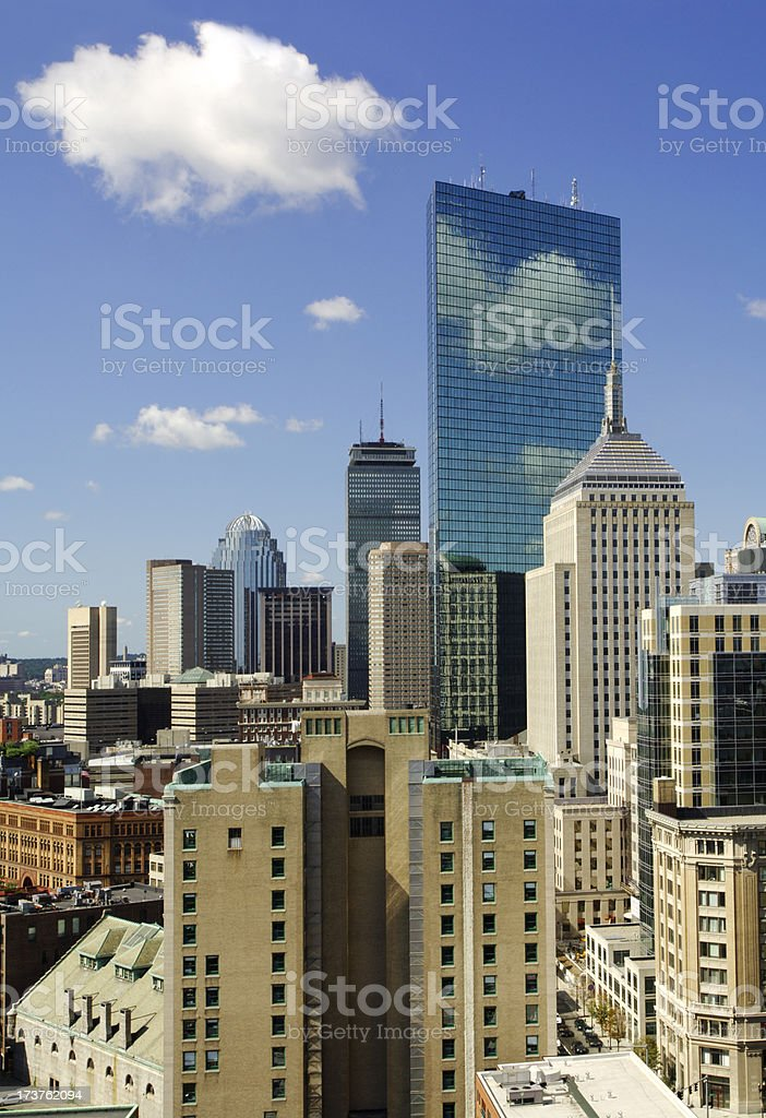 Boston skyline (vertical) royalty-free stock photo