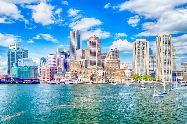 Skyline di Boston - foto stock