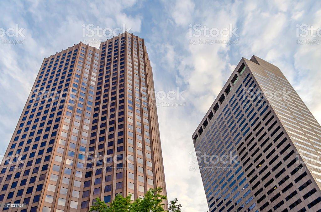 Boston Skyscrapers royalty-free stock photo