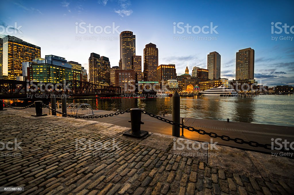 Boston skyscrapers stock photo