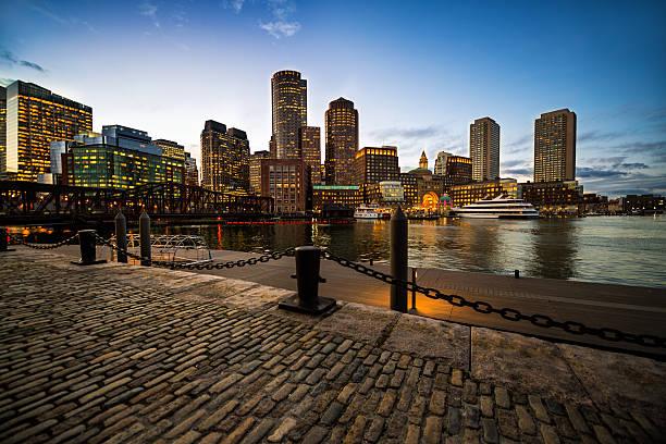 Boston skyscrapers stock photo