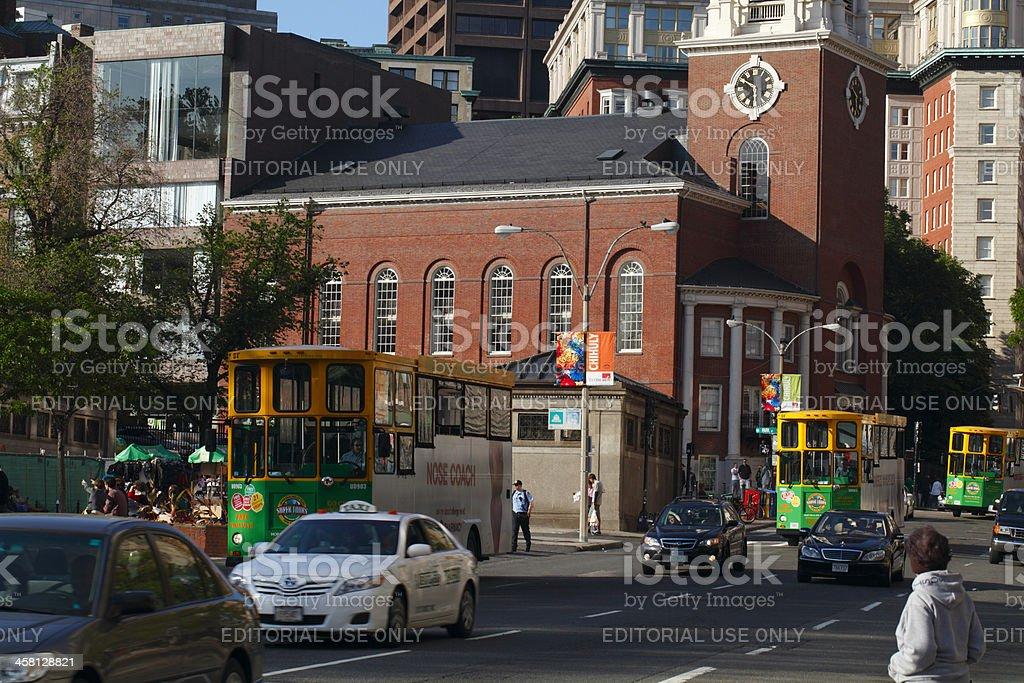 Boston Street stock photo