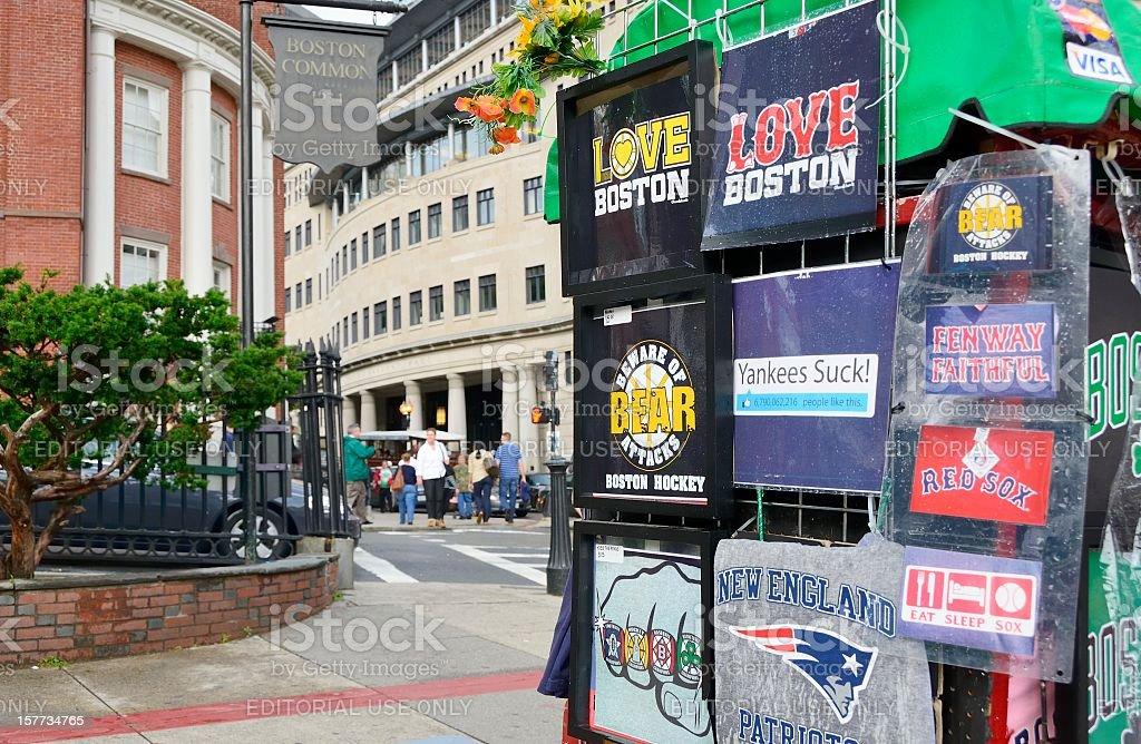 Escena de la calle de la ciudad de Boston - foto de stock