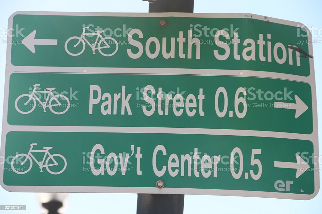 Boston street sign stock photo