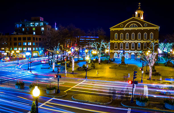 Boston Streets stock photo