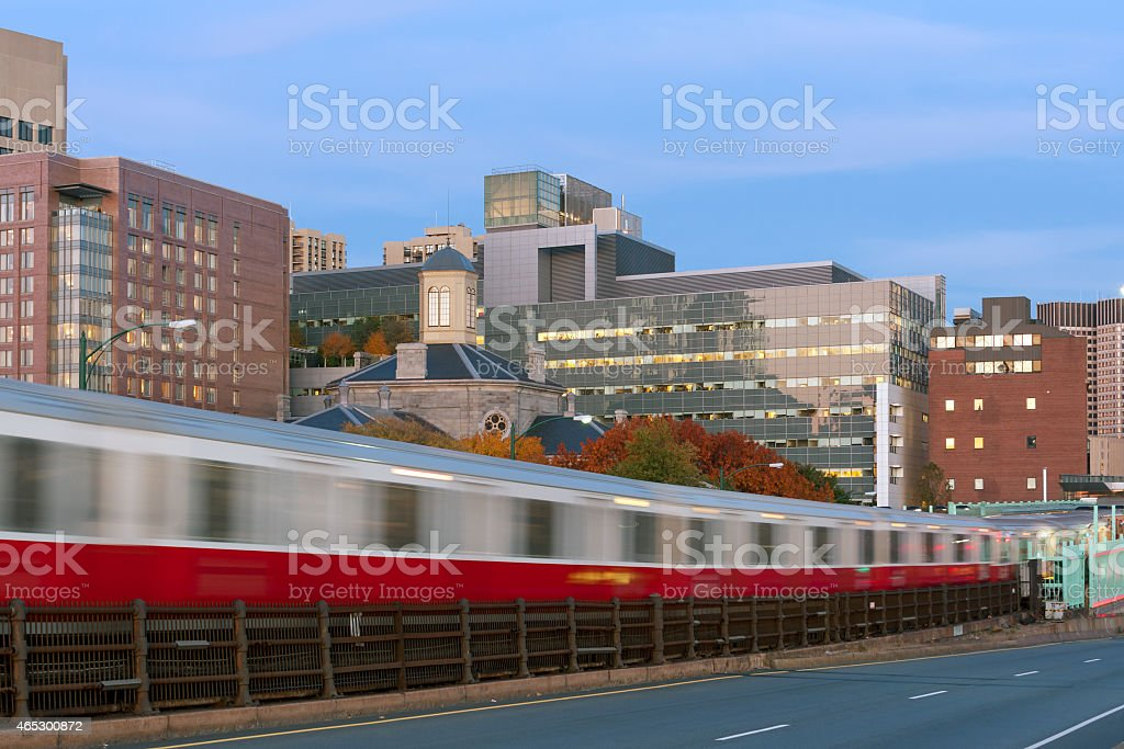 Boston subway stock photo