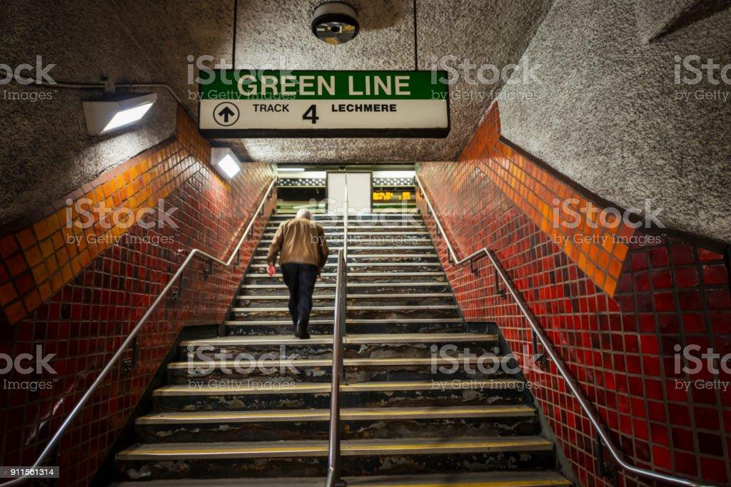 Boston Subway stock photo