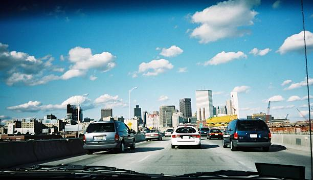 Boston traffic stock photo
