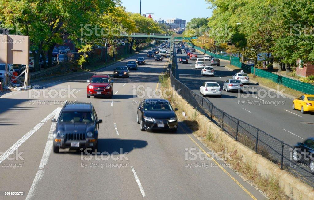 Boston Traffic Stock Photo - Download Image Now - iStock
