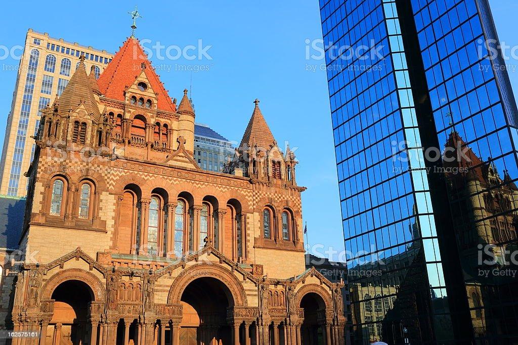Boston: Trinity Church royalty-free stock photo