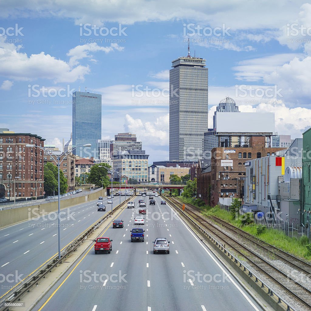 Boston Turnpike stock photo