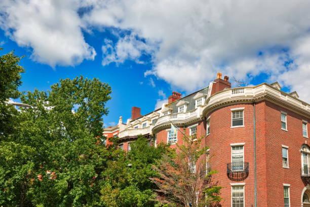 Boston University dorms located close to BU campus stock photo