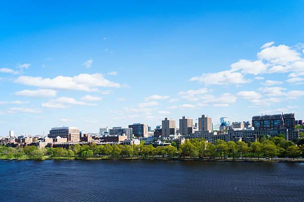 Boston University with Charles River stock photo