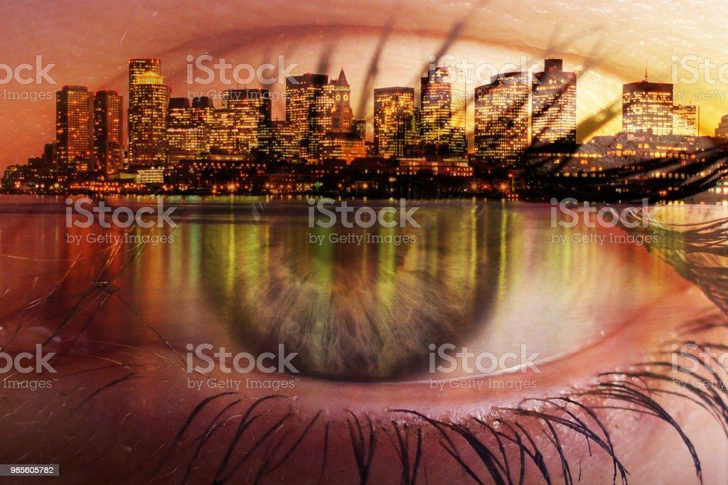 Blick auf Boston – Foto
