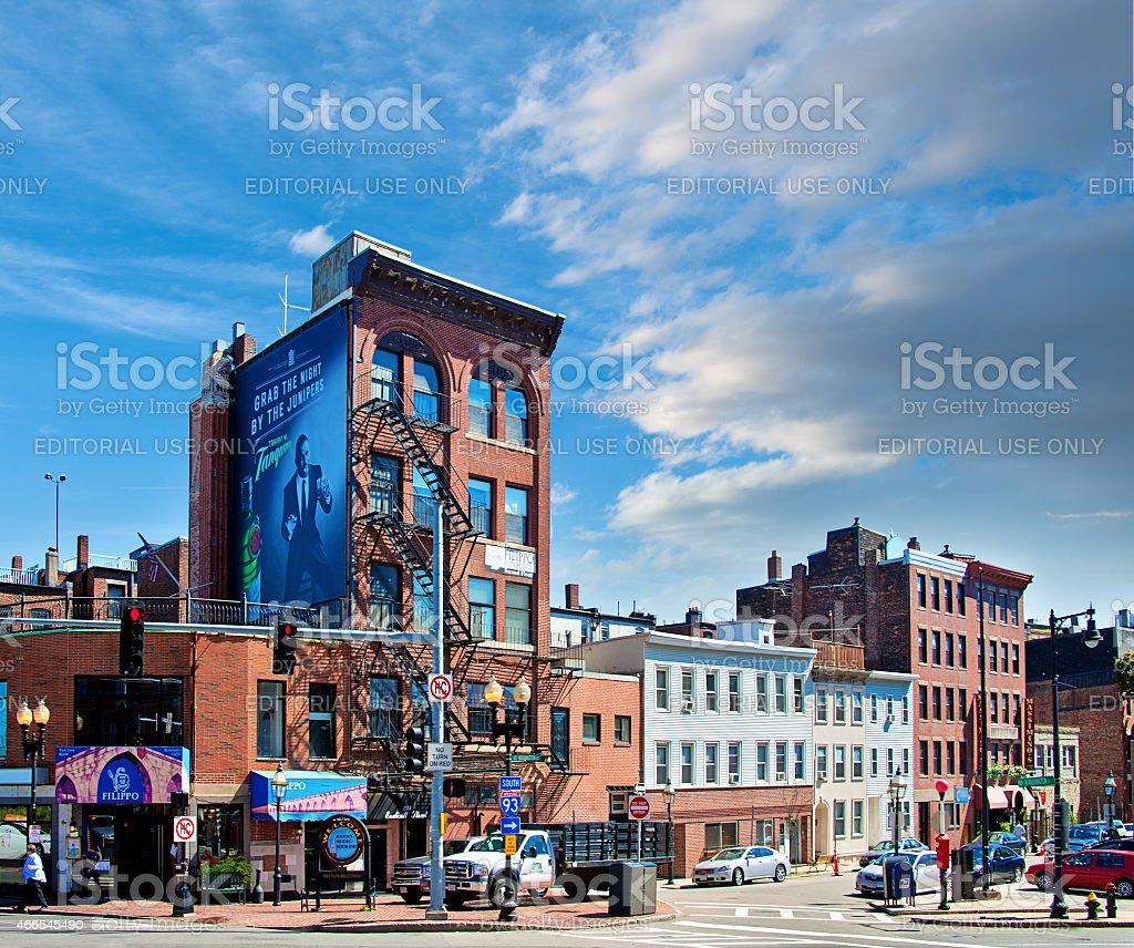 Boston - Washington Street stock photo
