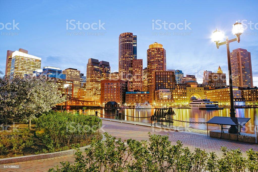 Boston waterfront stock photo
