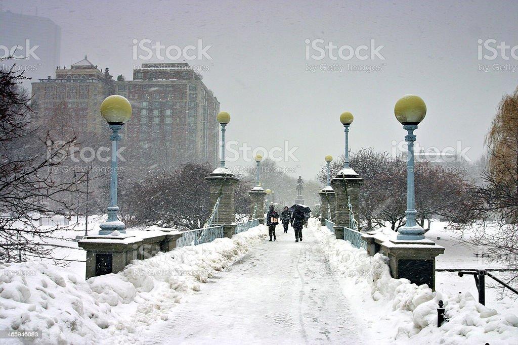 Boston Winter royalty-free stock photo