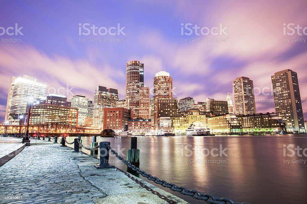 Boston with dramatic sky royalty-free stock photo