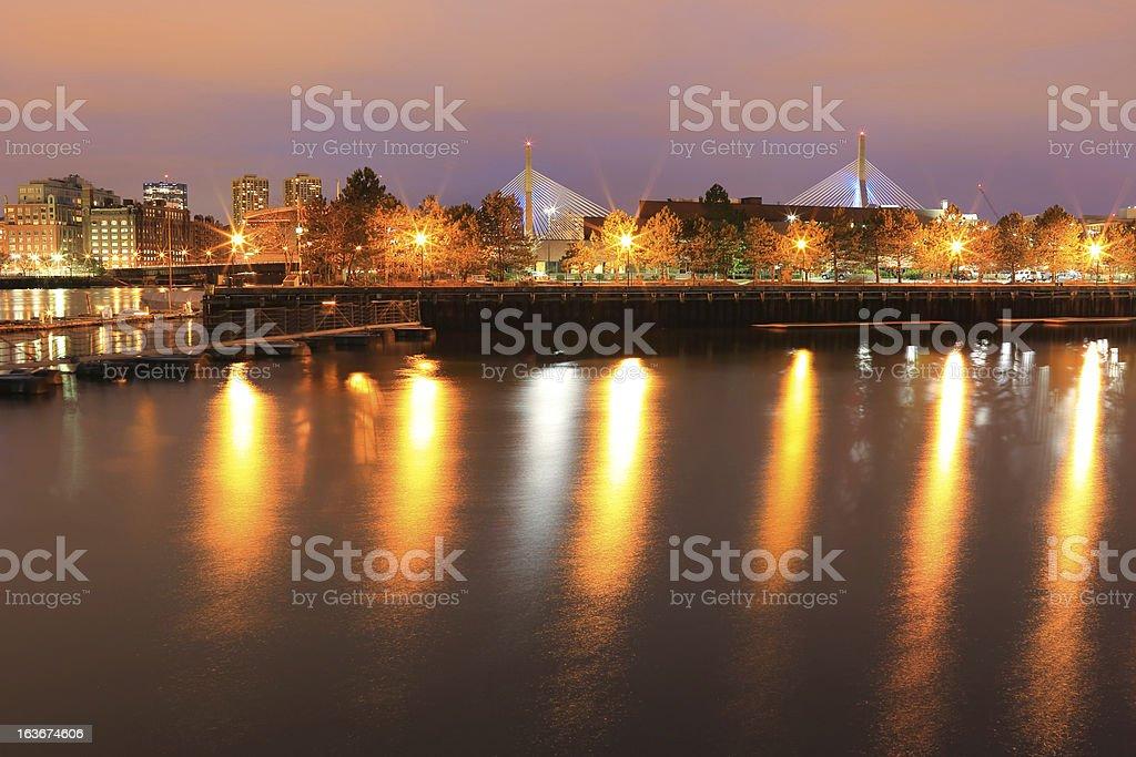 Boston: Zakim Bridge royalty-free stock photo