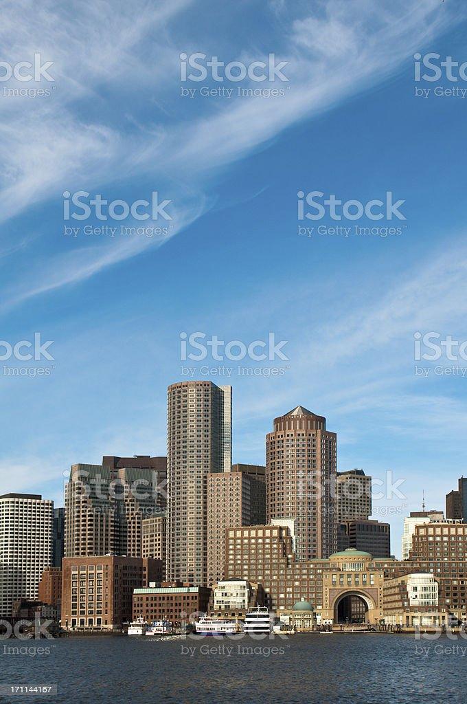 Boston-Between Ocean and Sky stock photo