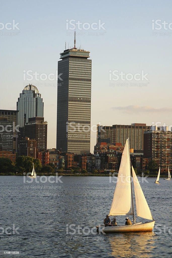 Boston's Back Bay royalty-free stock photo