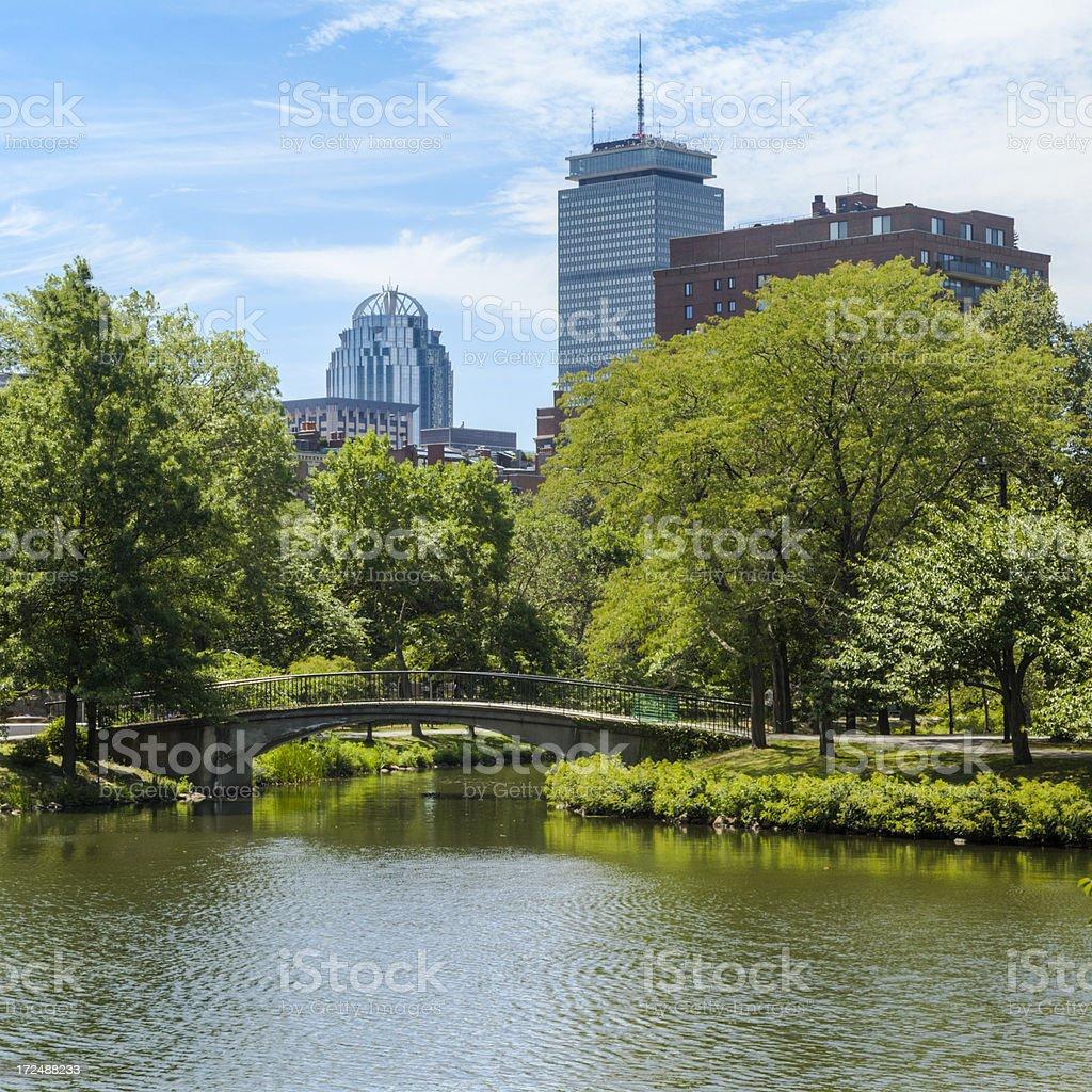 Boston's Charles River Esplanade Park stock photo
